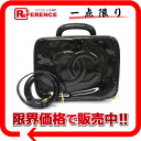 "Chanel enamel 2WAY vanity bag black ""response."""