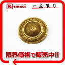 CHANEL logo round shape broach gold 》 02P02Aug14 for 《