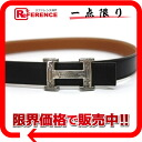 エルメストゥアレグミニ H belt reversible boxcalf X avian Yong Clement's black X gold F 刻 》 for 《