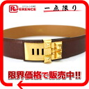 "Hermes コリエド cyanide メドール belt 70 クシュベル Brown x gold gold bracket X time ""response."""