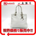 Dior lady dior lambskin handbag white X silver metal fittings 》 for 《