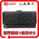 "Gucci GG PIERCE (Pierce GG) imprimé W hook length wallet black 212104 ""response.""-02P02Aug14"