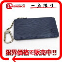 "ルイヴィトンエピ ""pochette clay"" coin purse combined use key case Toledo blue M6380G 》 02P02Aug14 for 《"