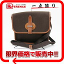 "Hermes ""Buenaventura"" shoulder bag toilophysie Brown silver metal ""response."""