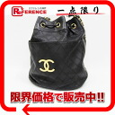 Black with the CHANEL lambskin drawstring purse shoulder bag porch