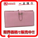 "Two fold long wallet ""ベアンスフレ"" ウノピンクシェーブルコロマンデル N 刻 》 with the HERMES gusset for 《"