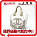"Chanel canvas Marshmallow bag MM tote bag White x beige ""response."""