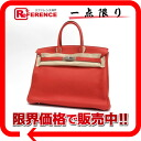 "35 HERMES highest peak handbag ""Birkin"" avian Yong Clement's bougainvillaea silver metal fittings N 刻 2010 production like-new 》 fs3gm 02P05Apr14M for 《"