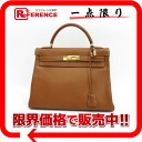 "Sew in a Hermes handbag ""Kelly 32"" with shoulder strap クシュベル gold gold bracket B ticking ""response."""