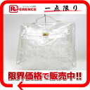 HERMES vinyl Kelly handbag clear 》 for 《