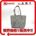 "Hermes Karimi MM-felt tote bag with pouch gray L ticking ""response."""