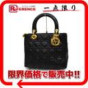 Dior lambskin lady dior handbag black 》 for 《