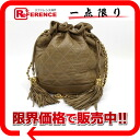 "Chanel lambskin quilted purse chain shoulder bag with fringe beige series ""correspondence."""