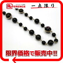 CHANEL 08A ball chain necklace black X gold X purple system 》 for 《