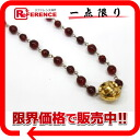 CHANEL bijou CC long necklace red X gold 》 for 《