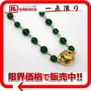 CHANEL bijou CC long necklace green X gold 》 for 《