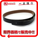 65 substitute belt boxcalf X クシュベル black X gold A 刻 》 for HERMES H buckle belts for 《
