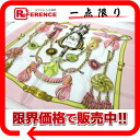 "Hermes silk scarf-""boyfriend"" Frontaux et Cocardes (front and medallions) light pink of beauty products ""enabled."" 02P02Aug14"