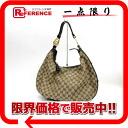 "Gucci GG canvas shoulder bag beige x Brown 223952 ""enabled."""