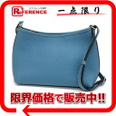 Hermes Berlingo PM shoulder bag slope Blue Jean silver fittings G ever-changing beauty products? s support.""
