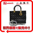Dior lady dior lambskin 2WAY handbag large black 》 for 《