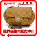 CHANEL lambskin matelasse chain around chain shoulder bag caramel brown A49889 》 for 《