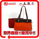 "Hermes airbag Cabas PM toil Office ALE x calf Orange x red gold hardware replacement bag H engraved ""response."""