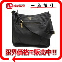 "Prada CERVO (Buck leather) NERO shoulder bag (black) beauty products ""enabled."""