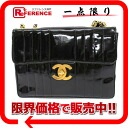 "Chanel enamel Mademoiselle W chain shoulder bag Deco bag black ""response."""