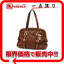 "Prada leather pouch Tote Brown BR3578 ""response.""-fs3gmi02p05apr14mi"