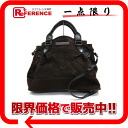 Burberry suede x 2-WAY shoulder bag brown leather x black s correspondence.""
