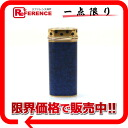 》 for 《 as well as Cartier trinity bread tail gas cigarette lighter gold X blue new article