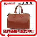 "Louis Vuitton EPI leather speedy 25 handbag mini Boston Kenyan Brown M43013 ""support."""