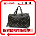Black 》 with the CHANEL calfskin Wilde stitch mini-Boston handbag porch for 《
