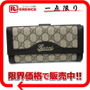 Gucci GG スプリーム two fold long wallet brown X beige 282411 》 for 《