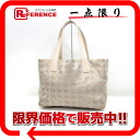 "Chanel Newt label line Tote PM beige x lame ""response."""