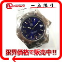 "Tag Heuer Professional 200 m men's watch SS quartz blue dial ""response."""