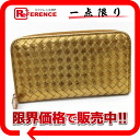 "Bottega Veneta intrecciato zip around wallet leather gold ""response."""