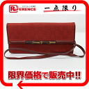 Gucci bamboo GG canvas shoulder bag clutch bag red 117594 》 for 《