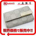 "Gucci guccissima leather 6-unused key case ivory 268833 ""enabled."""