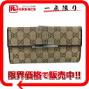 Gucci METAL BAR( metal bar) GG W hook long wallet beige X dark brown 112715 》 for 《
