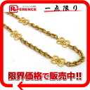 "Chanel long chain necklace gold ""support."""