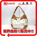"Louis Vuitton Monogram multicolor ""Greta"" Bron shoulder bag (white) M40195 ""enabled."""