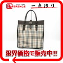 Burberry checked pattern tote bag brown X beige 》 for 《
