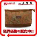 ETRO Paisley print canvas pouch Brown? s support.""
