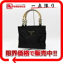 PRADA nylon handbag black 》 for 《