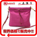 PRADA nylon logo shoulder bag fuchsia BT0702 》 for 《