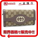 Gucci SUKEY( Sioux key) GG two fold long wallet beige X purple brown 282431 》 for 《