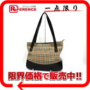 Burberry classical music check tote bag beige system X black 》 for 《