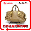 PRADA SOFT CALF( software calf) leather 2WAY handbag beige BN1903 》 for 《